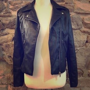 """LOVE TREE """"leather"""" and appliqué jacket"""